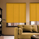 рулонные шторы желтые