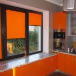 электро-рулонные шторы оранж