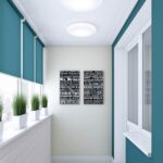 электро-рулонные шторы бирюза