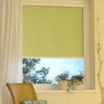 электро-рулонные шторы зеленые