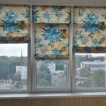 электро-рулонные шторы яркие