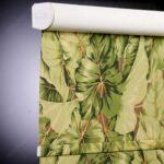 электро-рулонные шторы цветы