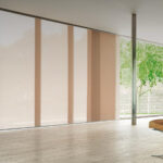 электро-рулонные шторы розовые