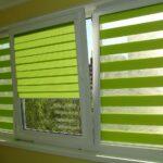 рулонно-кассетные шторы зеленая