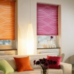 рулонно-кассетные шторы цветные