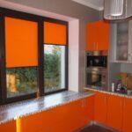 рулонно-кассетные шторы оранж