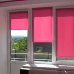 рулонно-кассетные шторы розовые