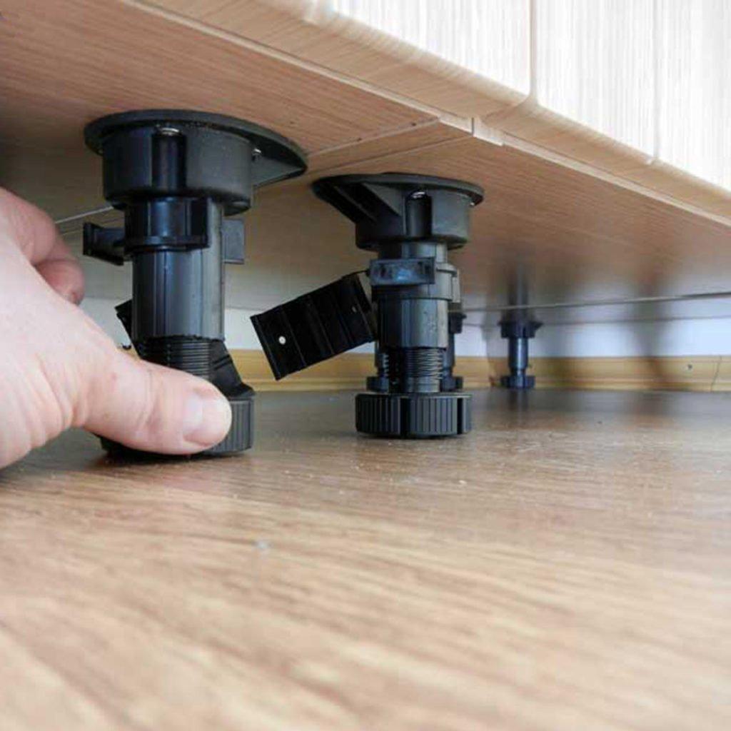 установка ножек на мебель