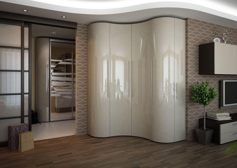 сферический шкаф-купе в гостиной