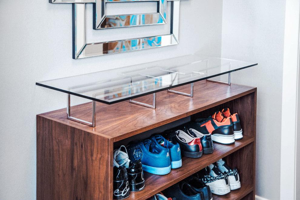 шкаф для обуви оформление
