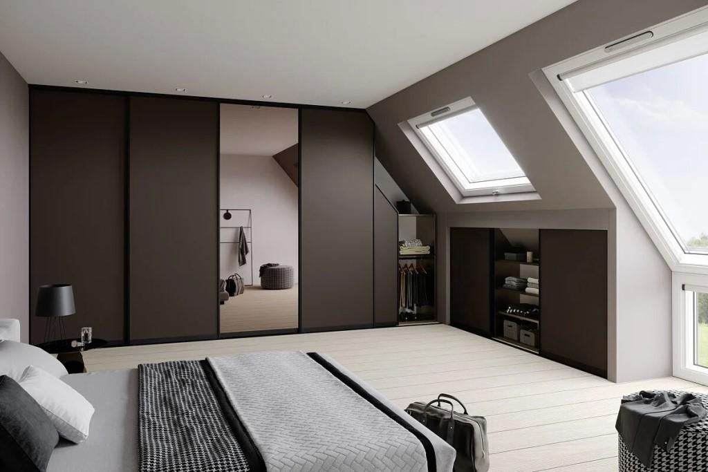 шкаф в мансарде дизайн фото