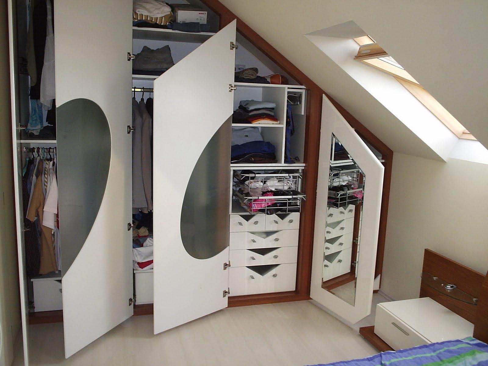 шкаф в мансарде идеи дизайна