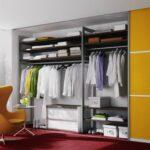 шкаф купе желтый