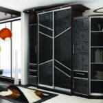 черный необычный шкаф