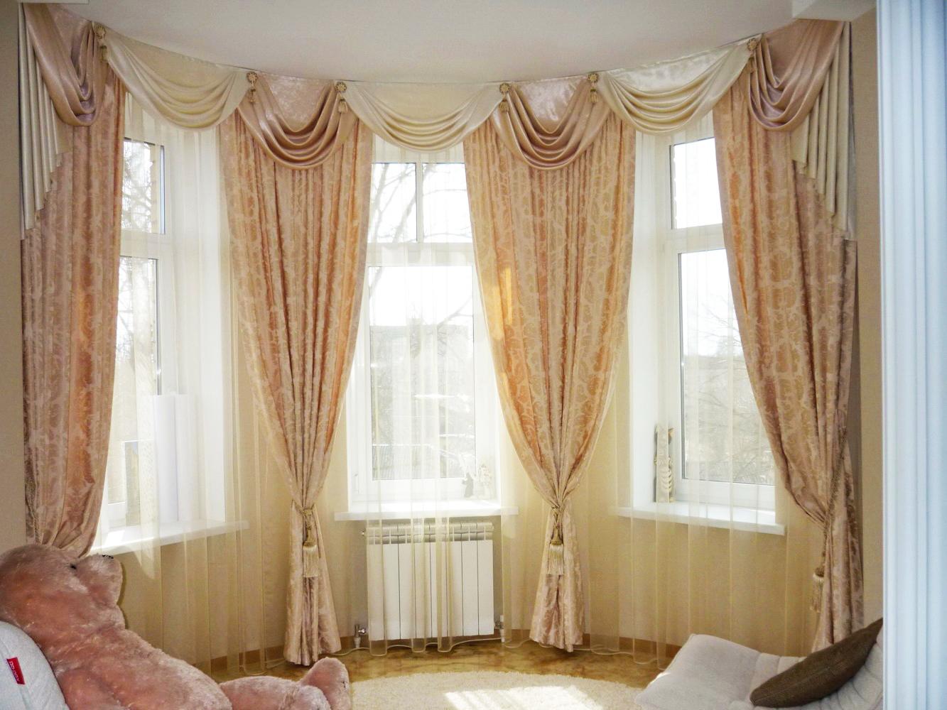 ваши образы варианты штор на эркерное окно фото очень удобна, особенно