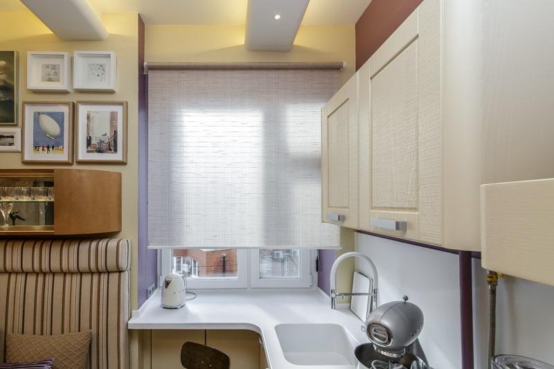 шторы для маленькой кухни фото декора