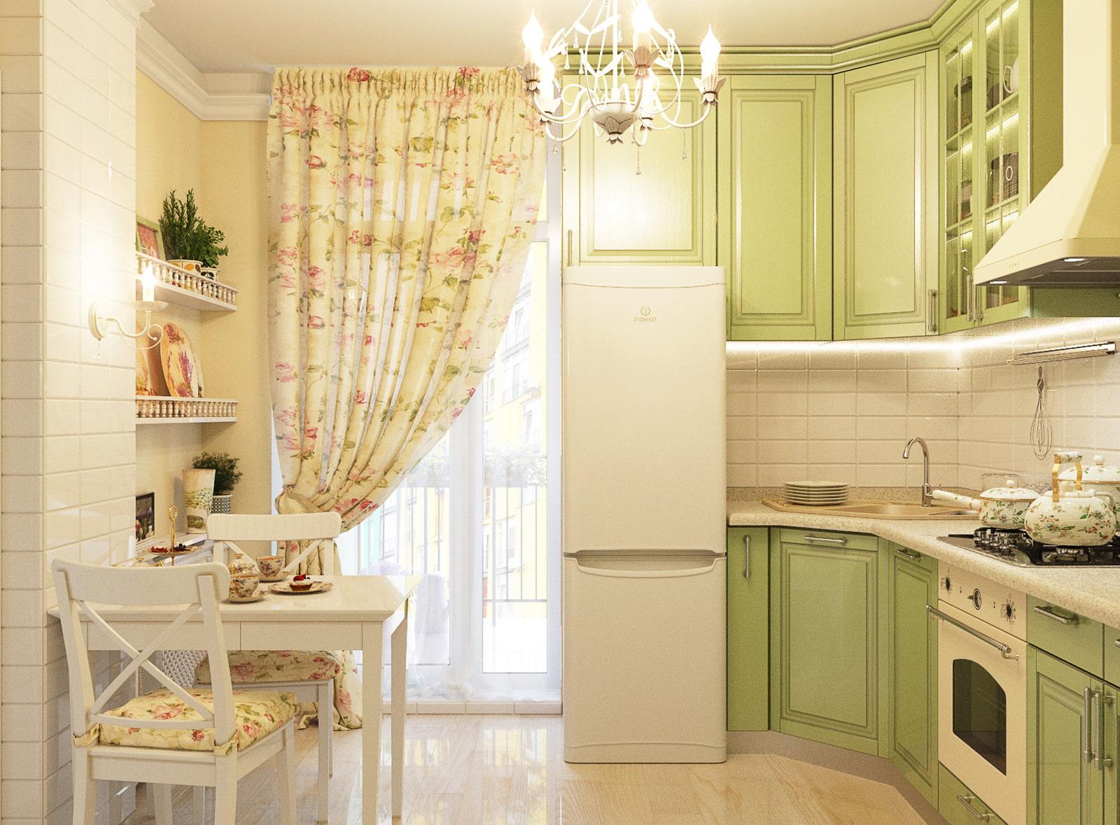 шторы для маленькой кухни фото оформления