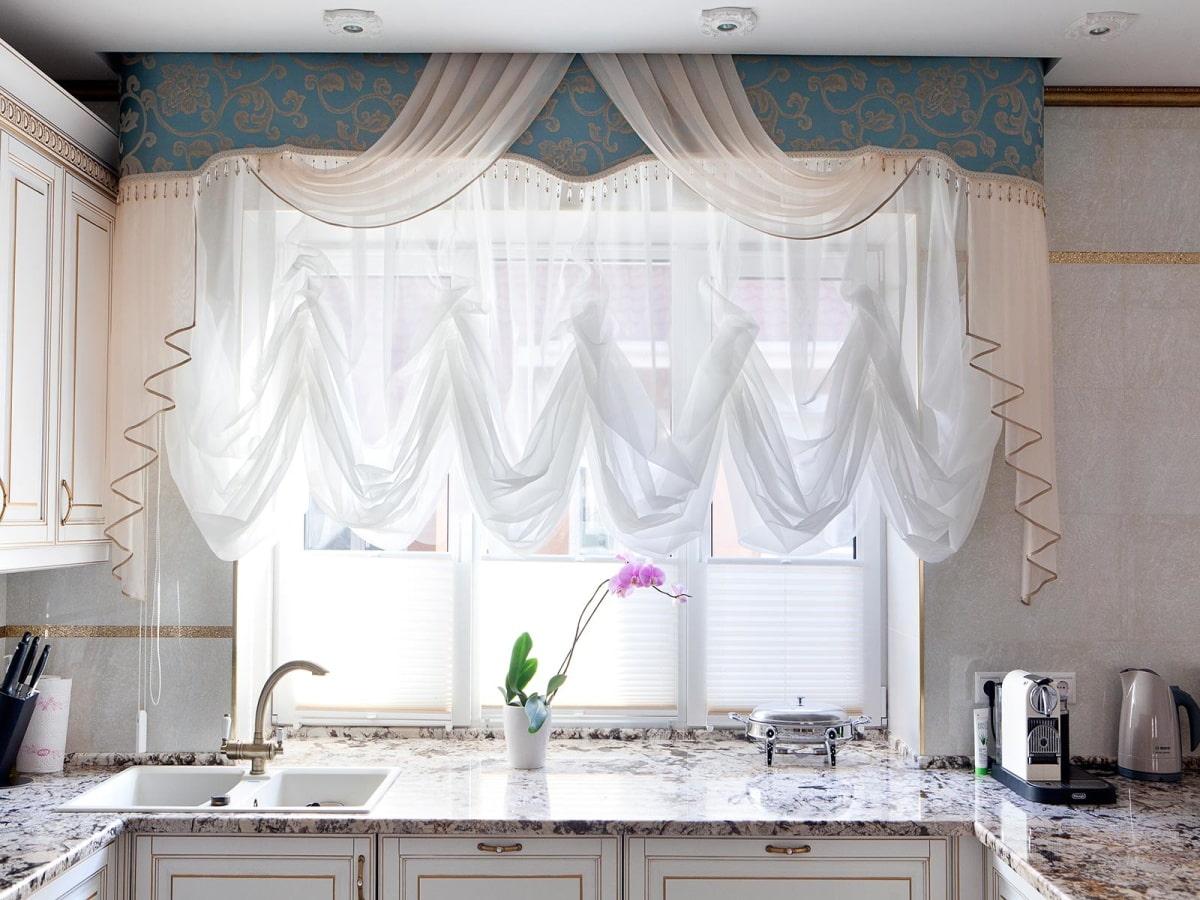 шторы для маленькой кухни идеи оформления