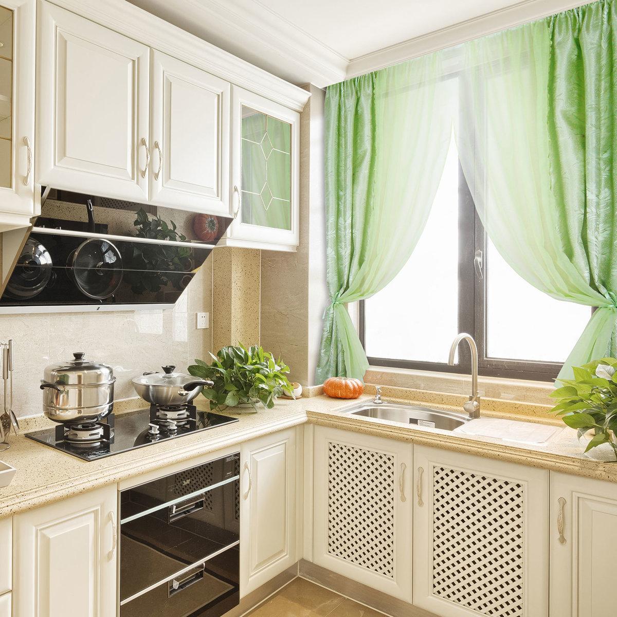 шторы для маленькой кухни идеи