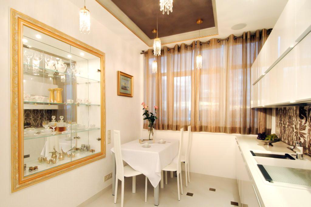 шторы для маленькой кухни оформление фото