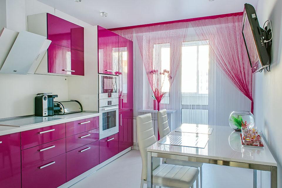 шторы для маленькой кухни оформление