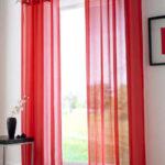 шторы красного цвета декор