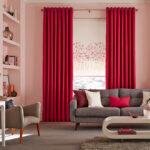 шторы красного цвета фото декора