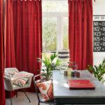 шторы красного цвета идеи декор