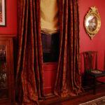 шторы красного цвета фото интерьера
