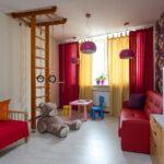 шторы красного цвета идеи интерьера