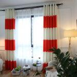шторы красного цвета фото оформление