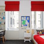 шторы красного цвета варианты