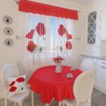 шторы красного цвета идеи вариантов