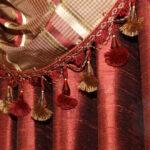 шторы красного цвета фото идеи