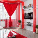шторы красного цвета фото видов