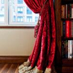 шторы красного цвета фото дизайна