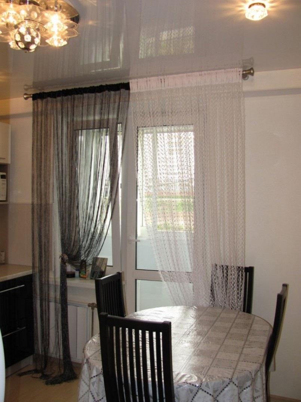 кисейные шторы на кухню