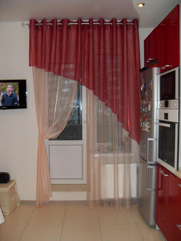 шторы на люверсах для кухни
