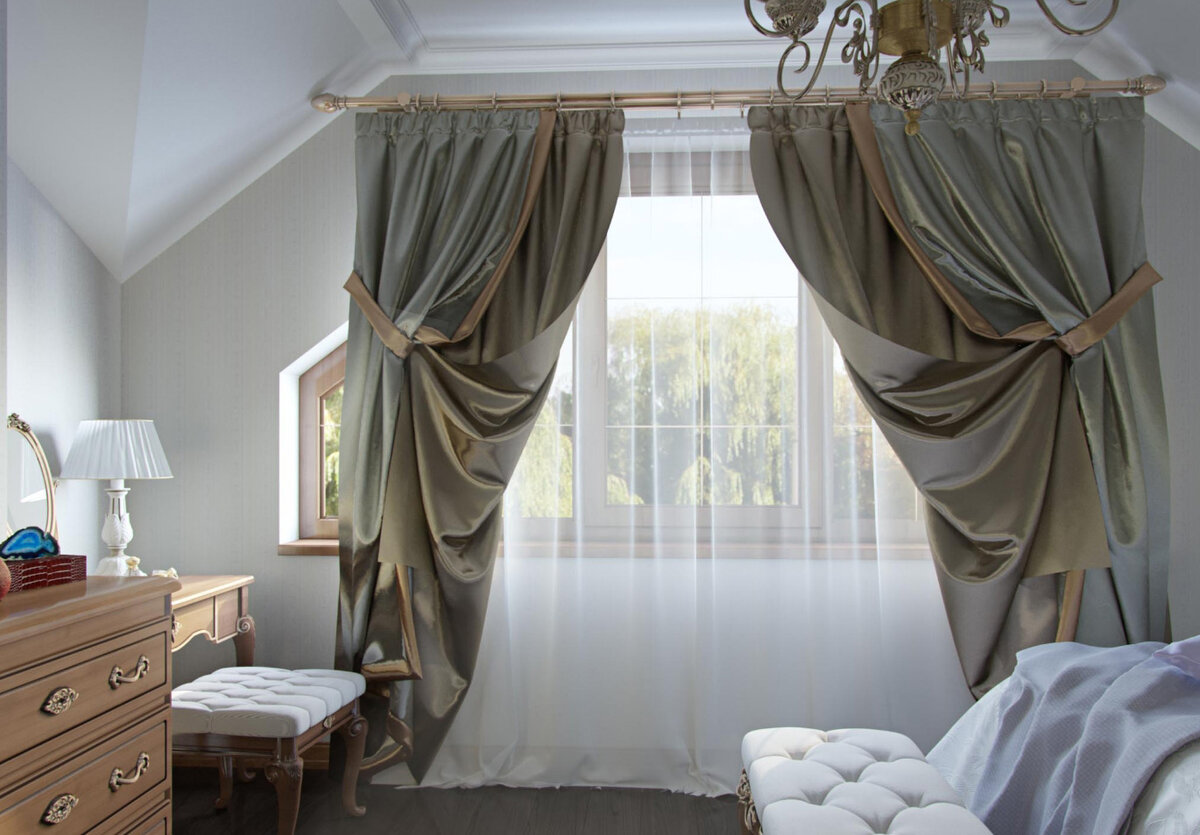 драпировка штор для декора