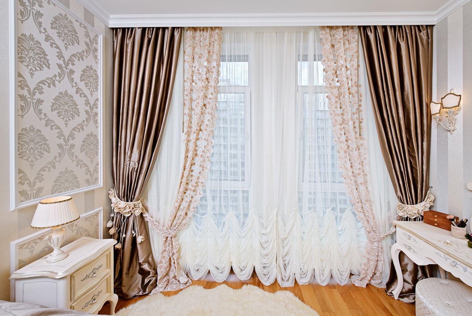 фото моделей тюлевых штор в зал