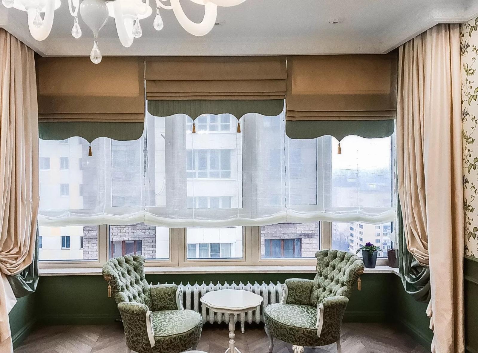 шторы на низкое окно