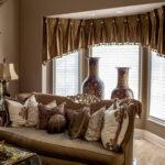 шторы на окна коричневые короткие