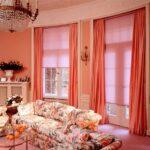 штор красныеы на окна