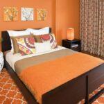 шторы оранжевого цвета интерьер фото