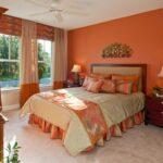 шторы оранжевого цвета дизайн идеи