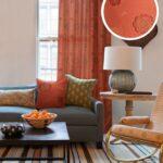 шторы оранжевого цвета идеи дизайн