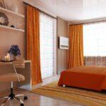 шторы оранжевого цвета идеи дизайна