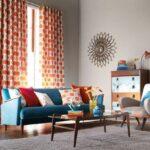 шторы оранжевого цвета декор