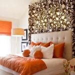 шторы оранжевого цвета декор фото