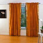 шторы оранжевого цвета фото декор